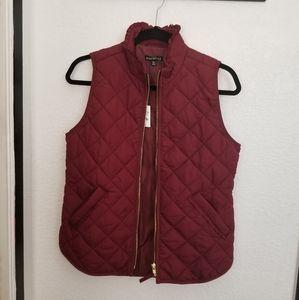 Burgundy Jacket Vest
